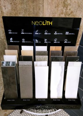 Coast to Coast showroom NeoLith tile display rack