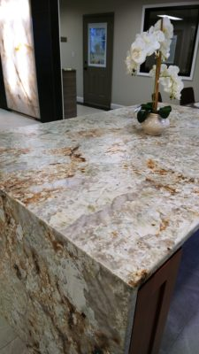 Granite countertop in our Lexington showroom