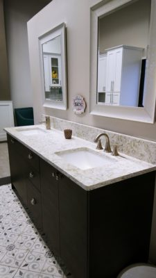 Coast to Coast showroom bathroom vanity double sink