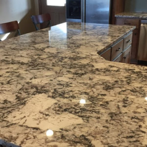 Cold Spring Granite kitchen island