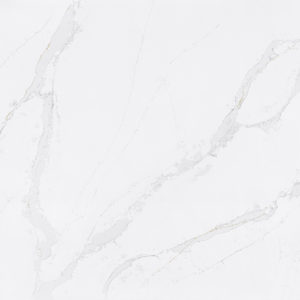 Calacatta Gold Quartz slab example by Silestone