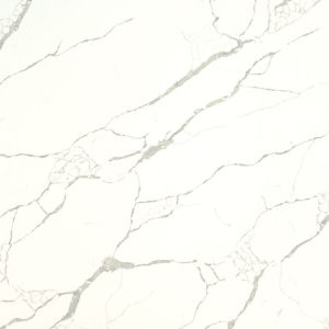 Calacatta Laza Quartz countertop slab color sample