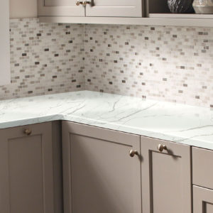 Calacatta Laza Quartz kitchen counter vendor MSI