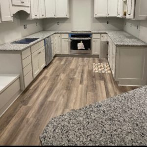 Luna Pearl Granite kitchen countertops install