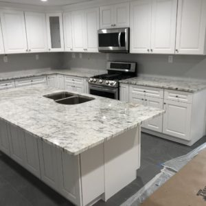 River White Granite Kitchen Countertops and Island