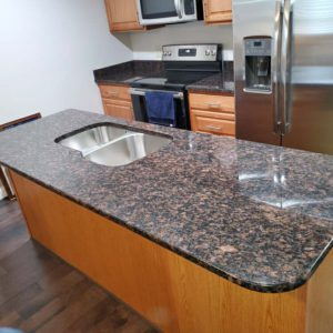 Tan Brown Granite Kitchen Island Countertops