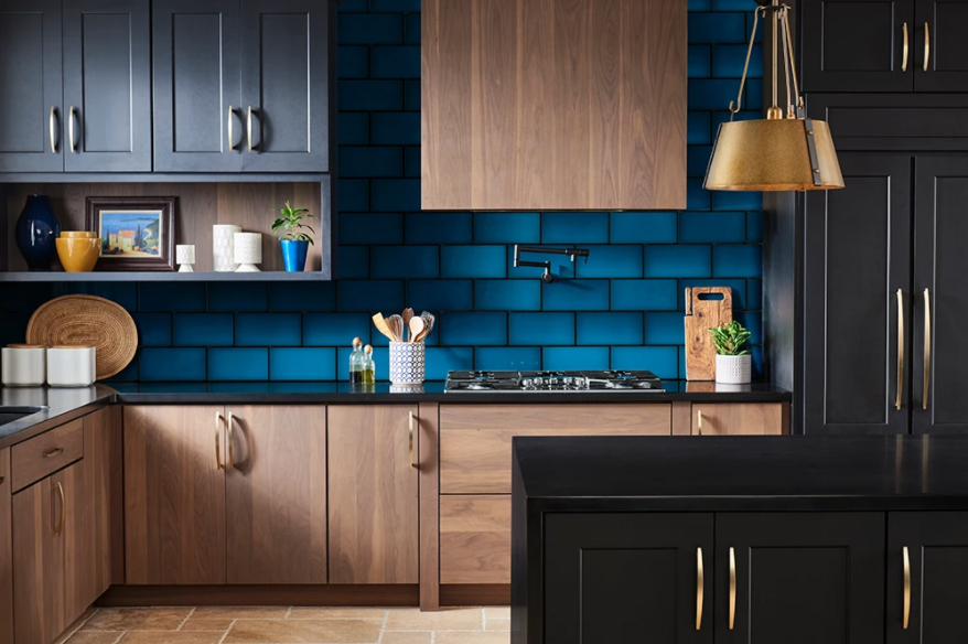 Emser Ombre Blue Tile Backsplash