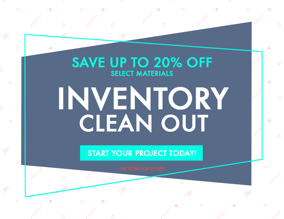 2021 Inventory Clean Out Special